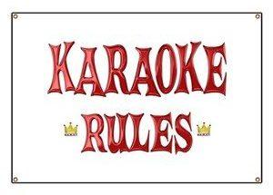 Karaoke Rules